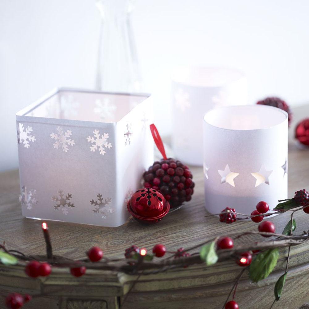 How To Make A Christmas Tea Light Holder