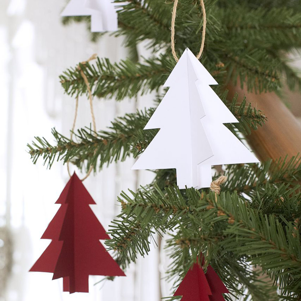 Decorate Christmas Tree On Paper : How to make paper christmas tree decorations