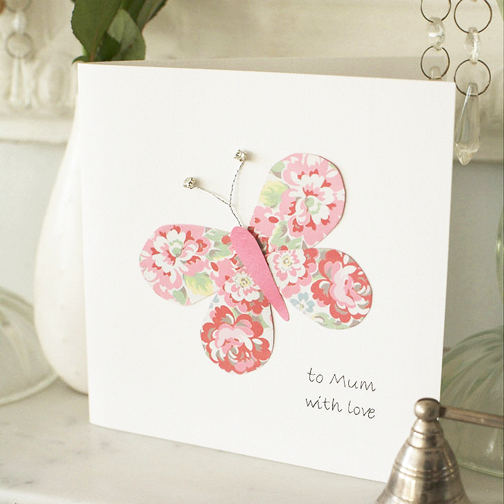 Beautiful Butterfly Homemade Mother's Day Card. Step By