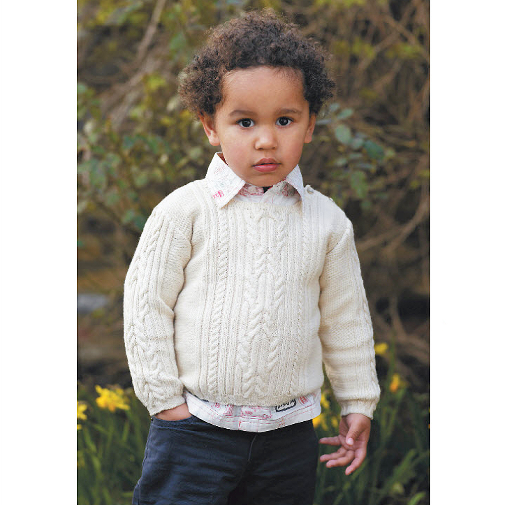 Knitting Patterns Childrens Jumpers : Try A Traditional Knit: Childs Cable Jumper