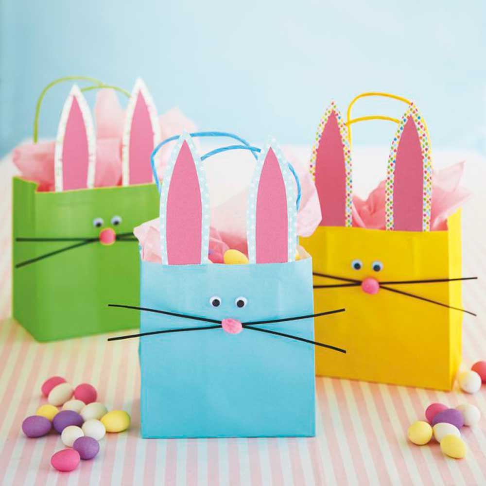 Gift bag craft ideas crafts wedding diy weddings crafts craft gift bag craft ideas take these bunny gift bags on a easter egg hunt negle Image collections