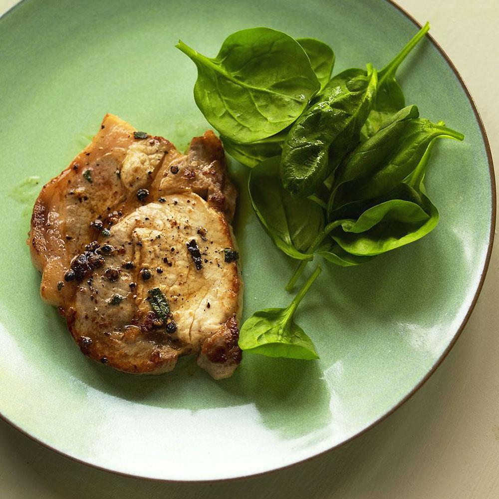 Pork loin steak recipe sage