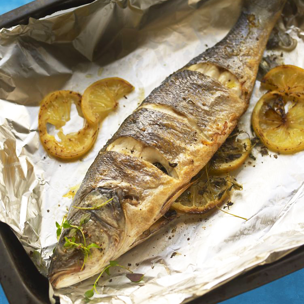Whole Roasted Sea Bass Simply Delicious