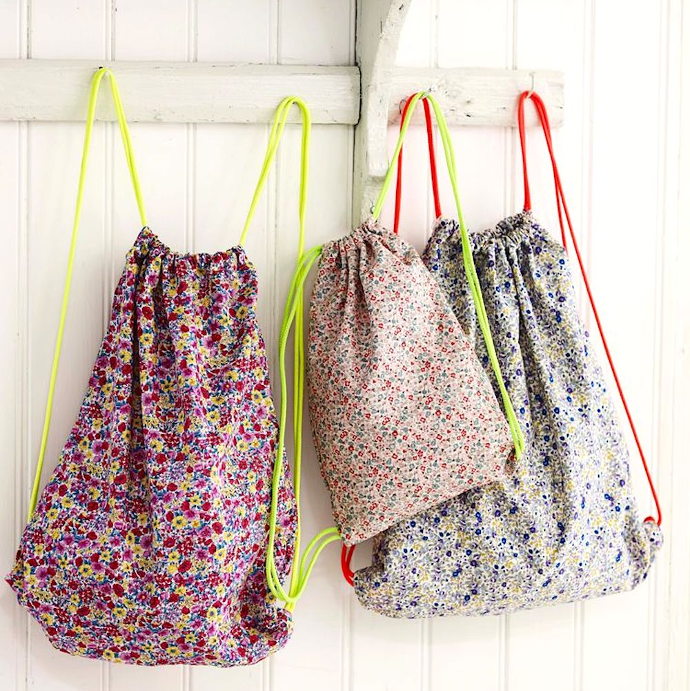 Sew Yourself A Pretty Carry-All: Free Drawstring Bag Pattern