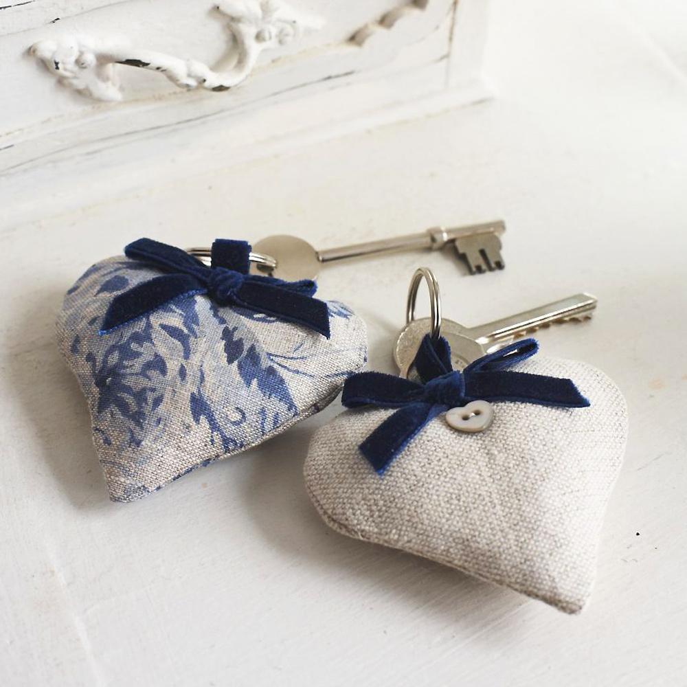 Sew Romantic! Heart-Shaped Keyrings To Make