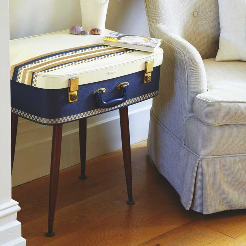 Make A Stylish Side Table With An Old Vintage Suitcase