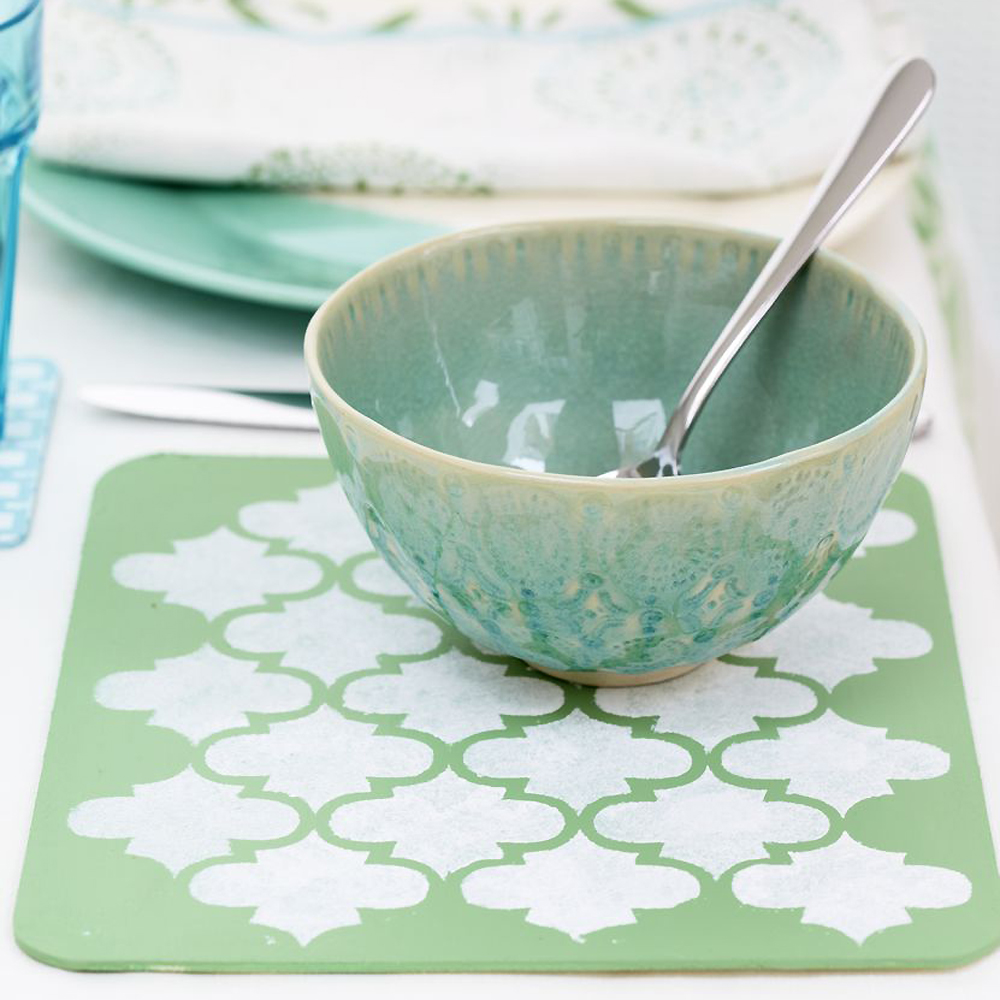 Make Placemats And Coasters Special With Stencilling : 1433812338 ppmake moroccan placemat1000sq from prima.co.uk size 1000 x 1000 jpeg 413kB