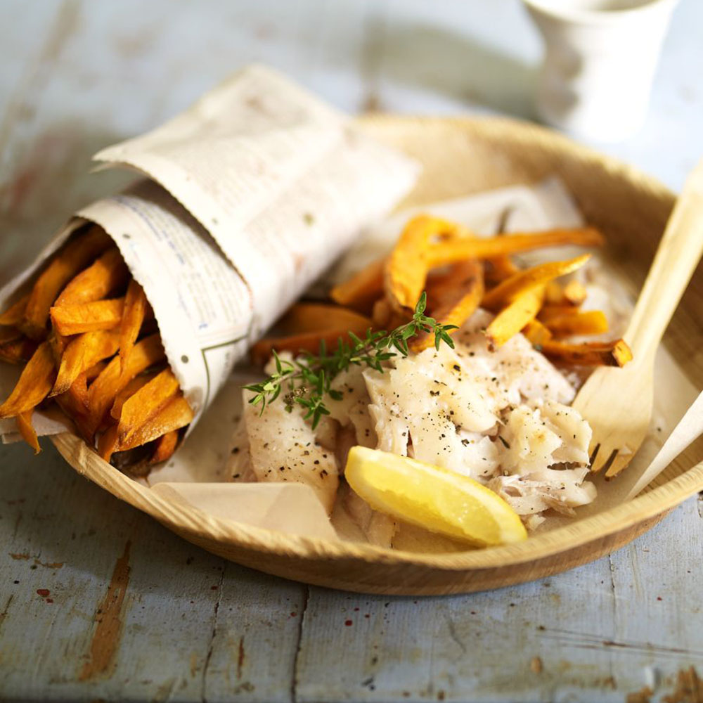Friday night healthy fish and chips recipe for Fish chips recipe