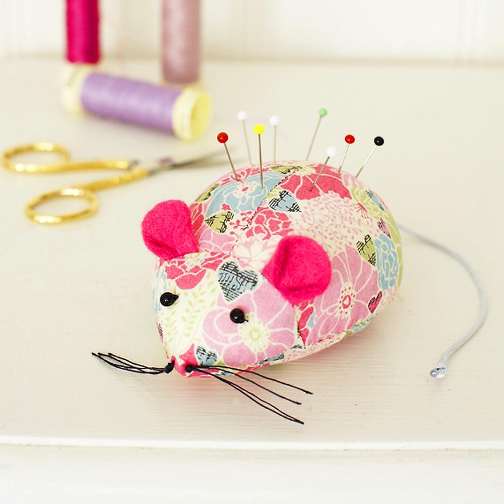 Turn Leftover Fabric Into A Cute Mouse Pincushion