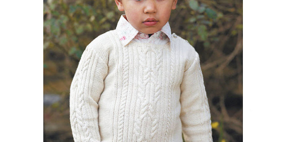 Spiderman Knitting Pattern Free : Try A Traditional Knit: Childs Cable Jumper