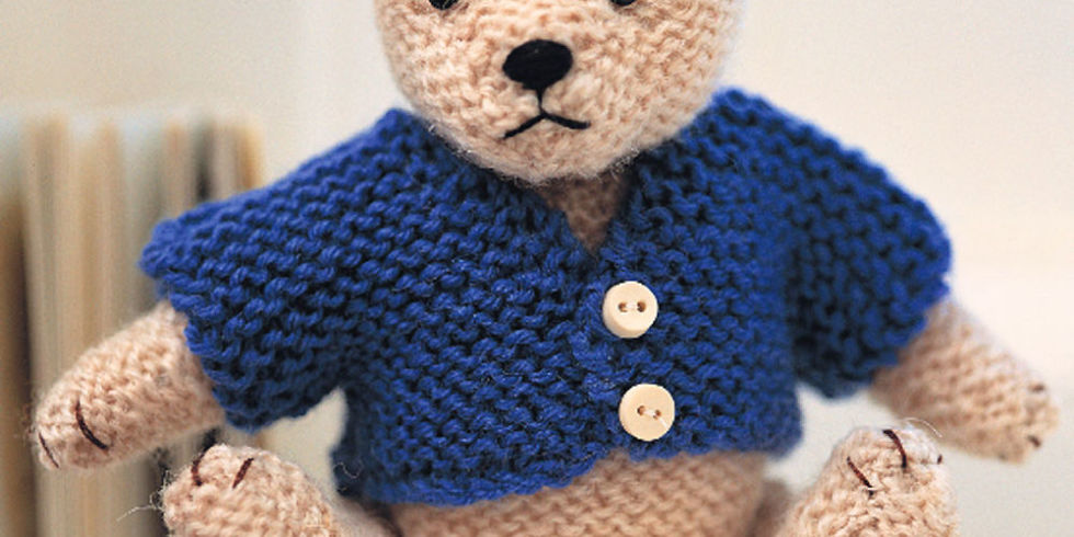 Knitting Pattern For All In One Teddy Bear : Try Our Smart Teddy Bear Knitting Pattern