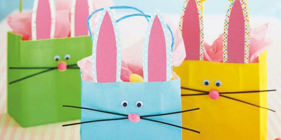 Take these bunny gift bags on a fun easter egg hunt bunny gift bags negle Gallery