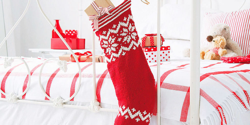 White Cable Knit Christmas Stockings. Using A Knit Christmas ...