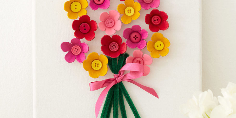 Craft Flowers For Kids Part - 18: Egg Box Kids Craft Flower Picture