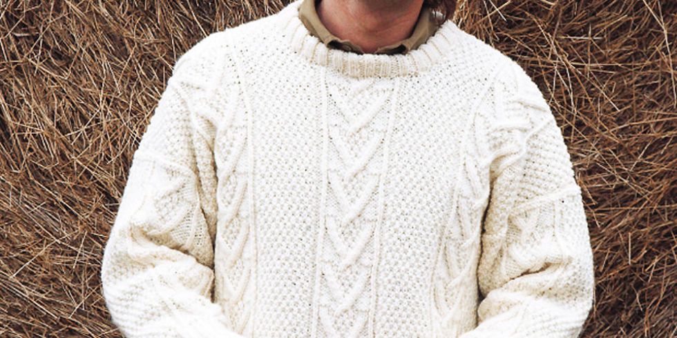 Free Aran Knitting Pattern : Knit A Real Mans Classic: Free Aran Jumper Knitting Pattern