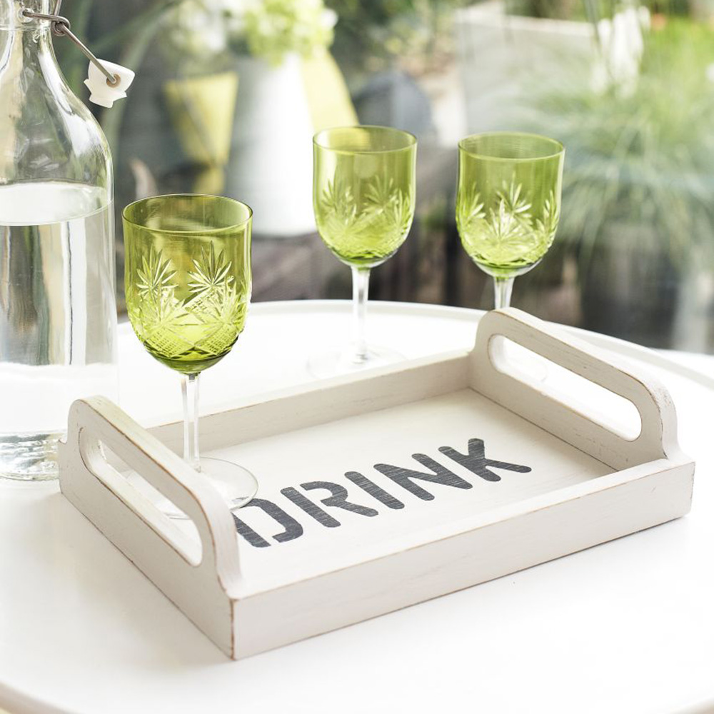 Upcycle A Drinks Tray With Trendy Stencils