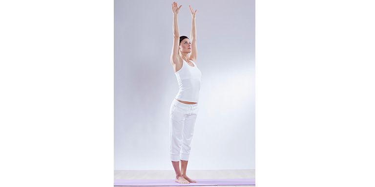Woman yoga mountain pose