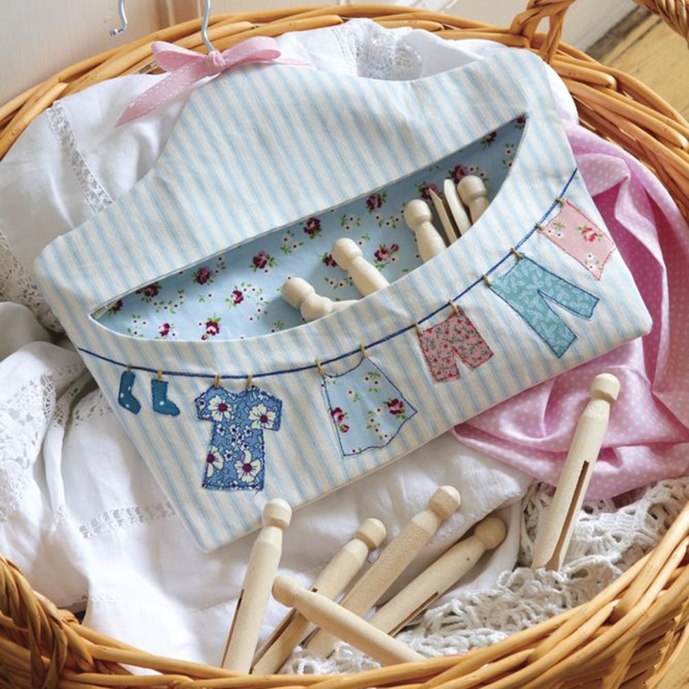 Knitting Pattern For A Peg Bag : Make A Pretty Fabric Peg Bag: Free Sewing Patterns