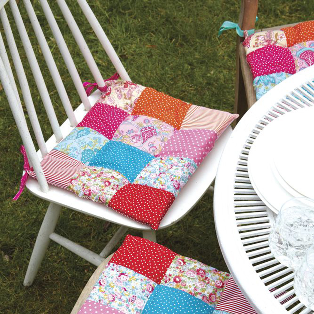 Free Sewing Patterns Patchwork Cushions For Garden Chairs