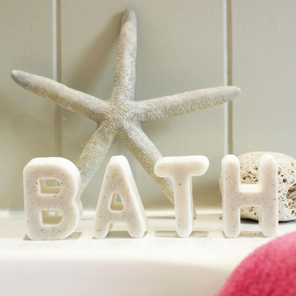 Make Handmade Soap Bars In Novelty Alphabet Letters