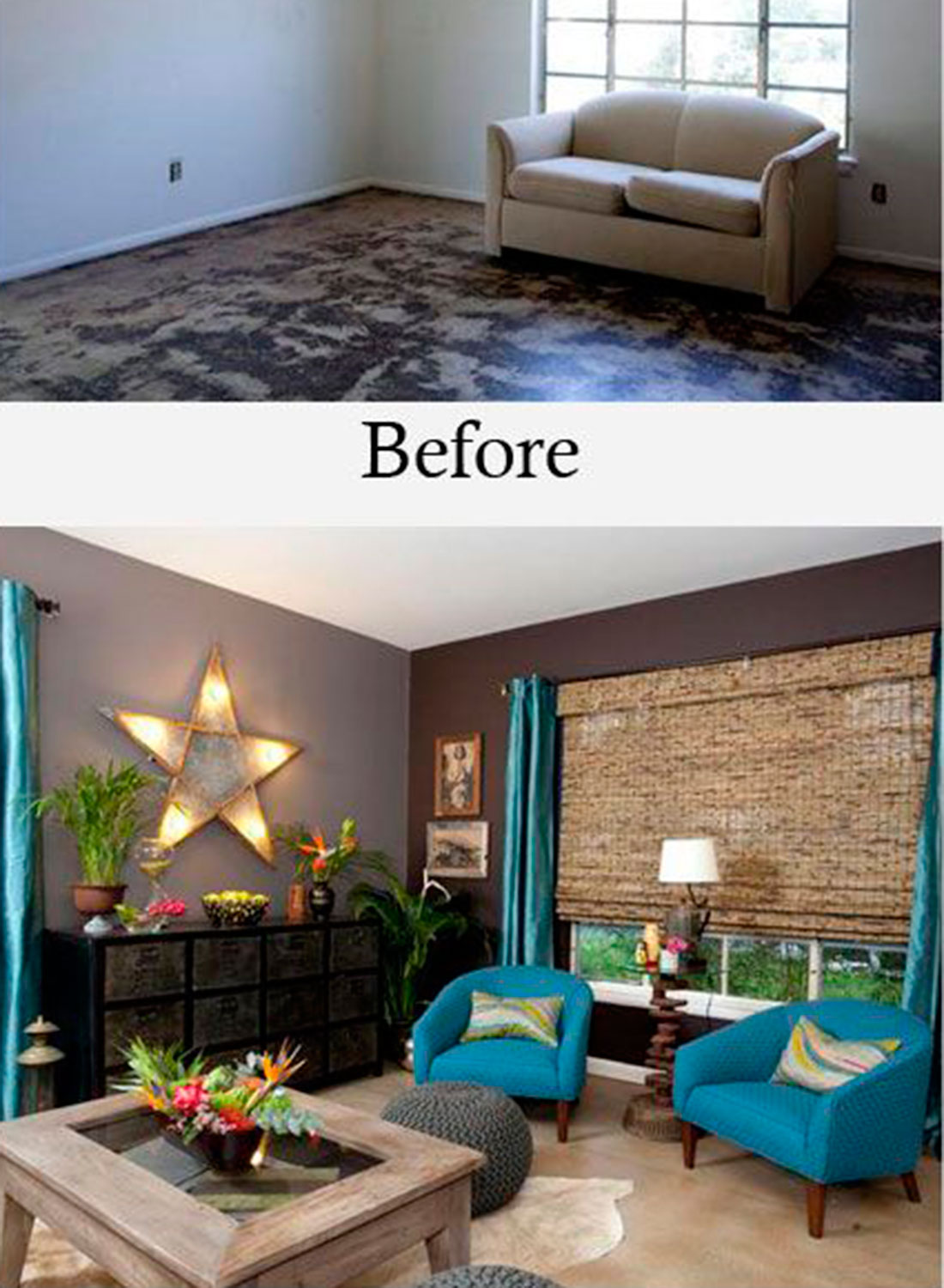 The before and after home makeovers to inspire your diy - Hgtv before and after living rooms ...