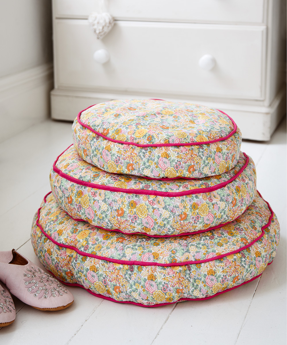 Make Floral Bean Bag Floor Cushions Free Sewing Patterns