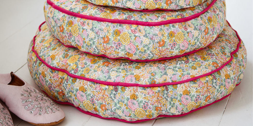 Make floral beanbag floor cushions free sewing patterns