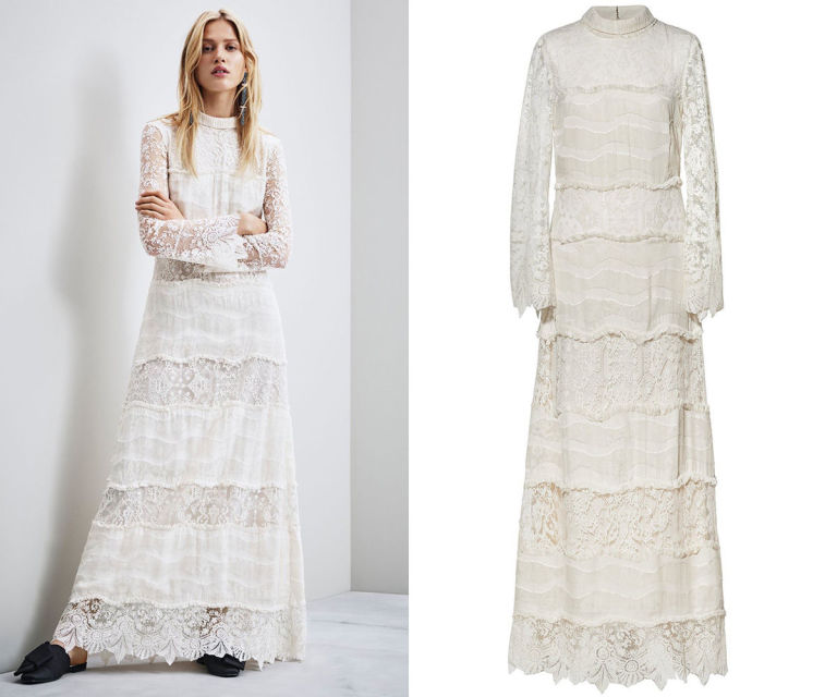 H M Lace Wedding Dress
