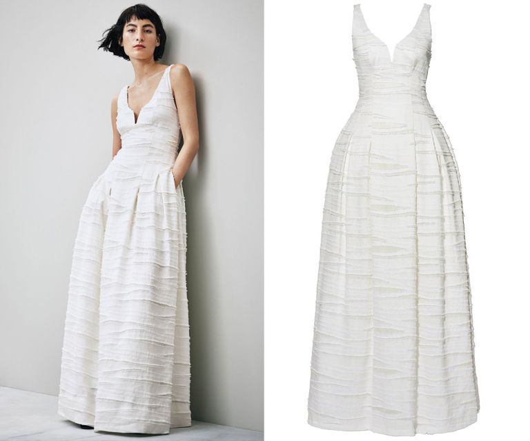 H M White Wedding Dress