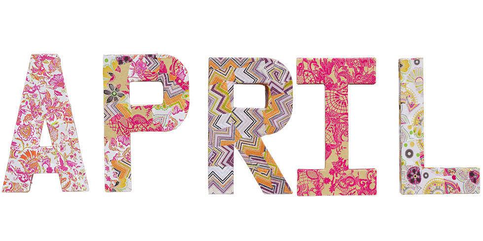 decoupage letters