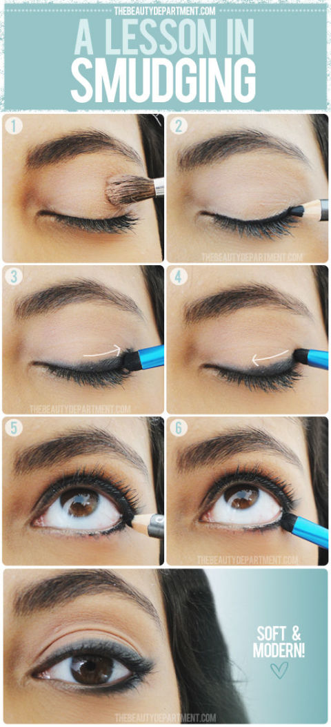 Can't draw a precise line? Smudging and softening your eyeliner can fix that for you.<br />Get the tutorial at The Beauty Department.<br />