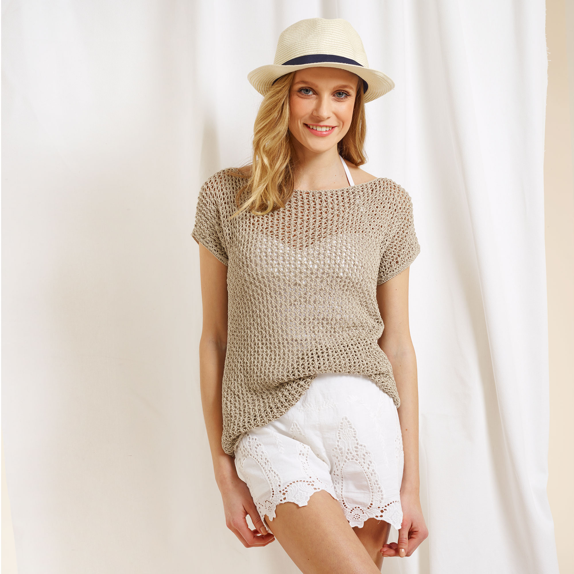 free knitting patterns  knit a lovely linen lace top for summer