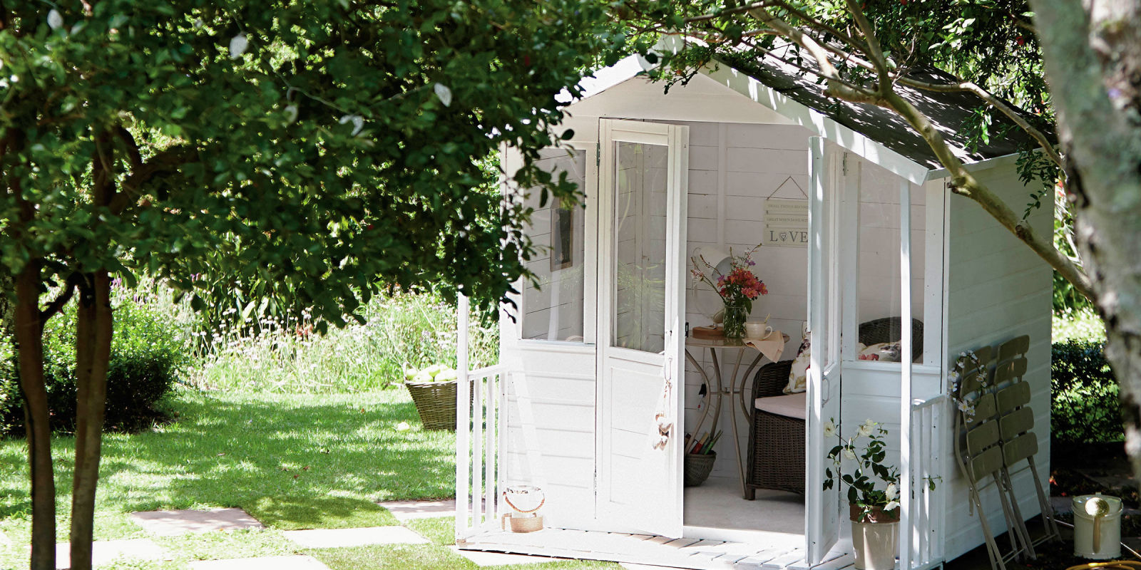 Garden Sheds Homebase how to make your garden shed chic