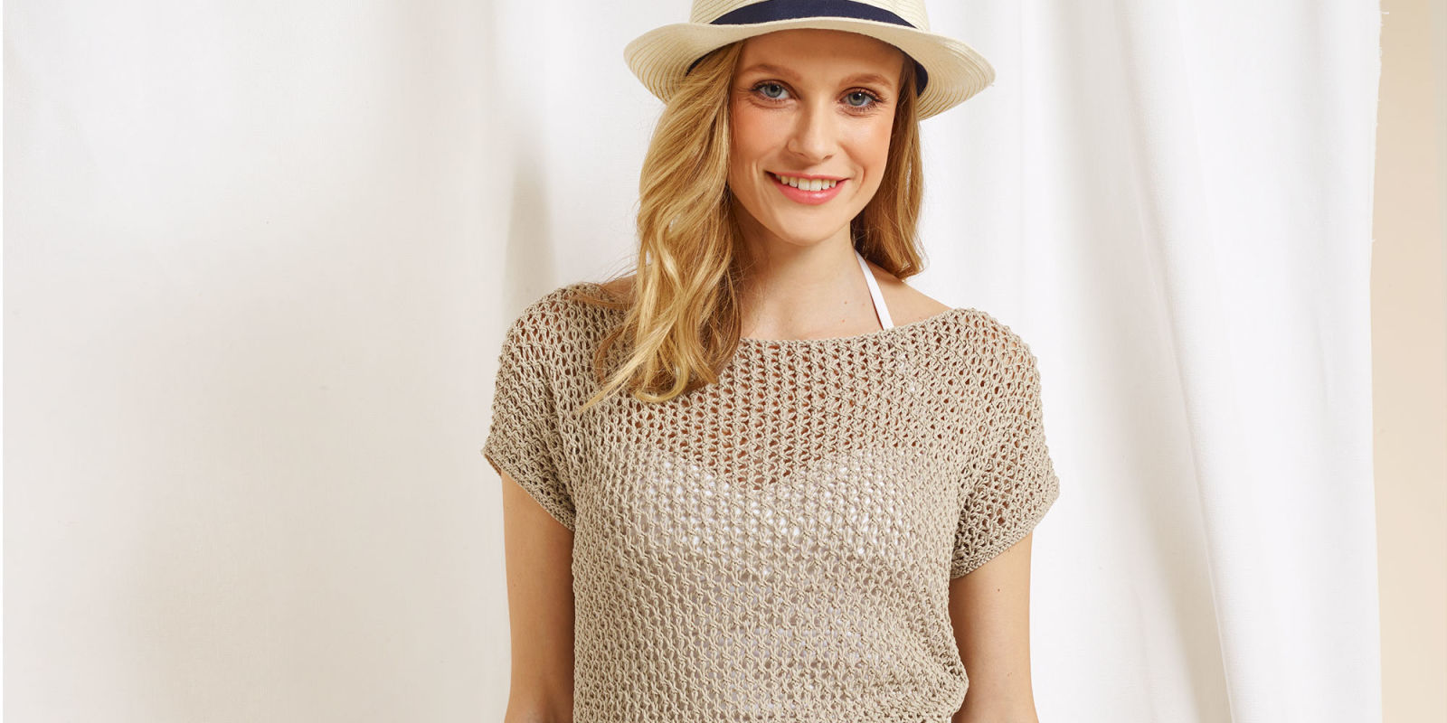 Knitting Tops Patterns : Free knitting patterns knit a lovely linen lace top for