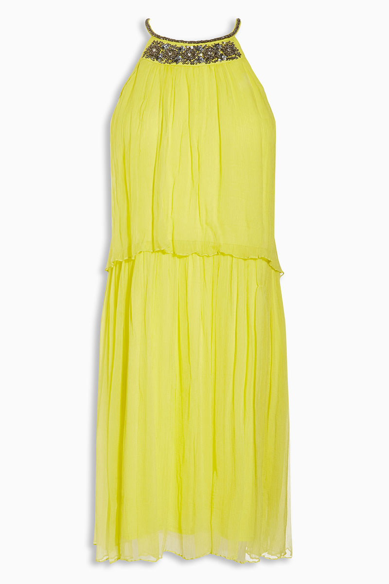 18 of the best high street wedding guest outfits for Yellow wedding guest dress