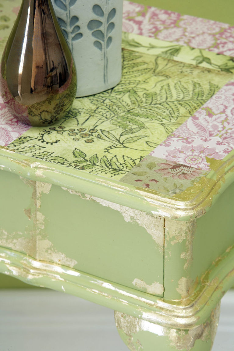 decoupage table top furniture