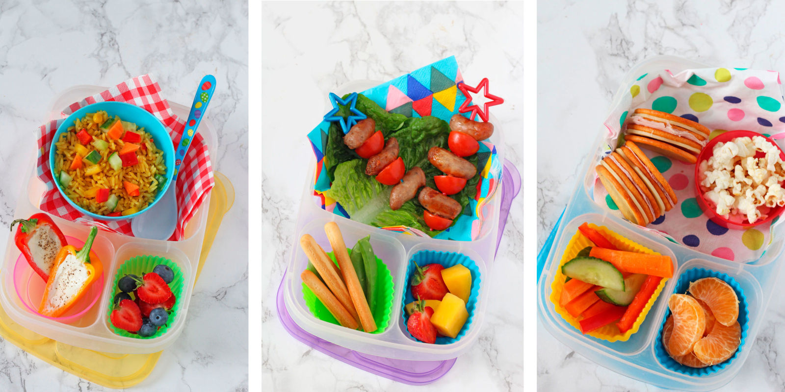 Fun ideas for making simple lunches for kids--for home or for school. Includes healthy sandwich recipes, hamburger recipes, tofu burger recipes, and other easy lunch recipes for kids.