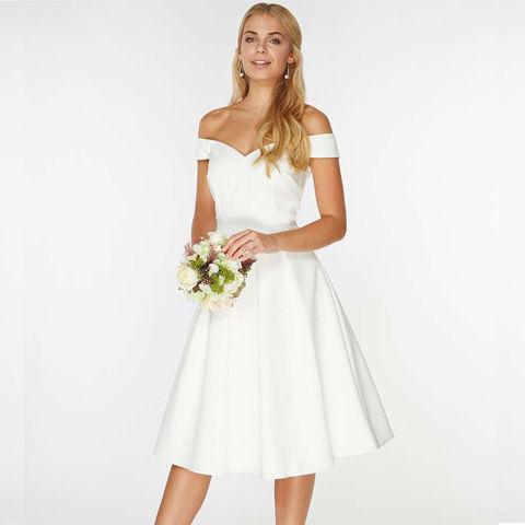 White Bridal Tabitha Skater Dress