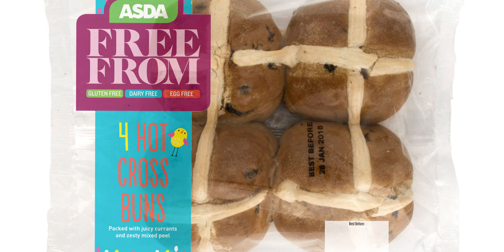 Vegan hot cross buns asda launches range ahead of easter vegan hot cross buns asda negle Image collections